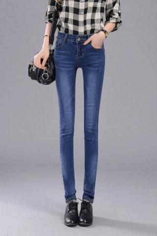 Quần jean lưng cao thời trang - TQ287